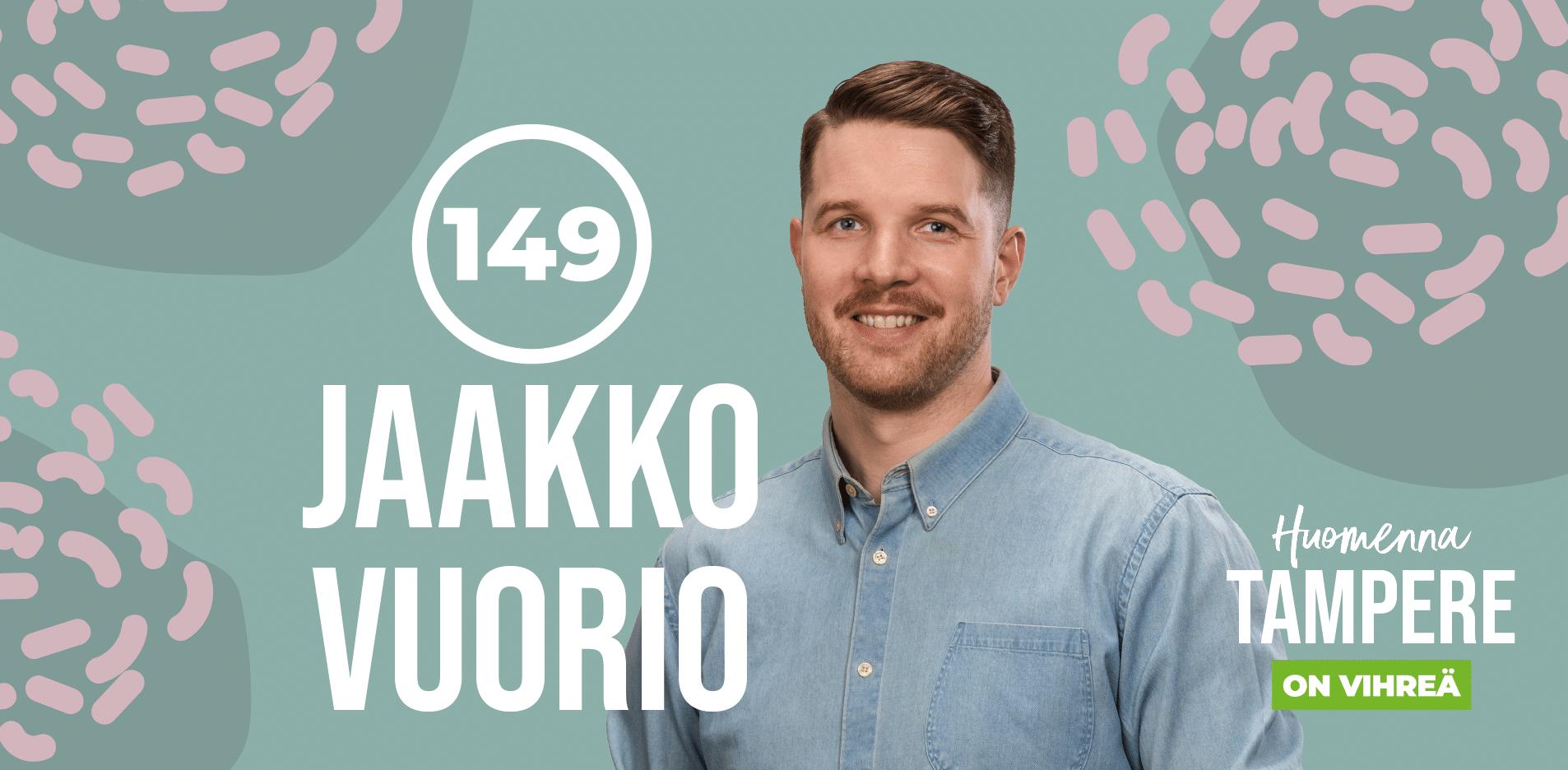 Jaakko Vuorio, ehdolla Tampereella numerolla 149